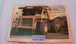 Caterpillar 777D 1975 construction tipper truck framed picture